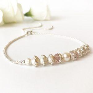 Blush and Pearl Bracelet   Me Me Jewellery