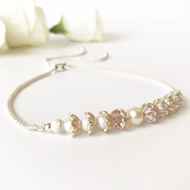 Blush and Pearl Bracelet | Me Me Jewellery