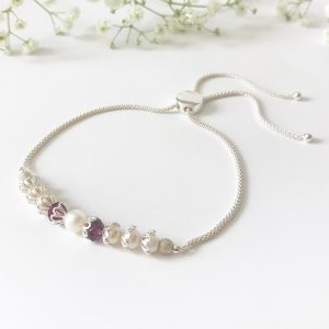 Purple and pearl bracelet | Me Me Jewellery