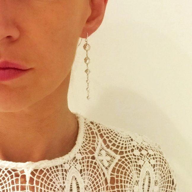 Long Pearl Earrings | Me Me Jewellery