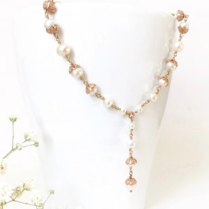 Rose gold bridal necklace | Me Me Jewellery
