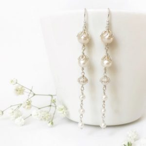Sterling silver bridal earrings | Me Me Jewellery