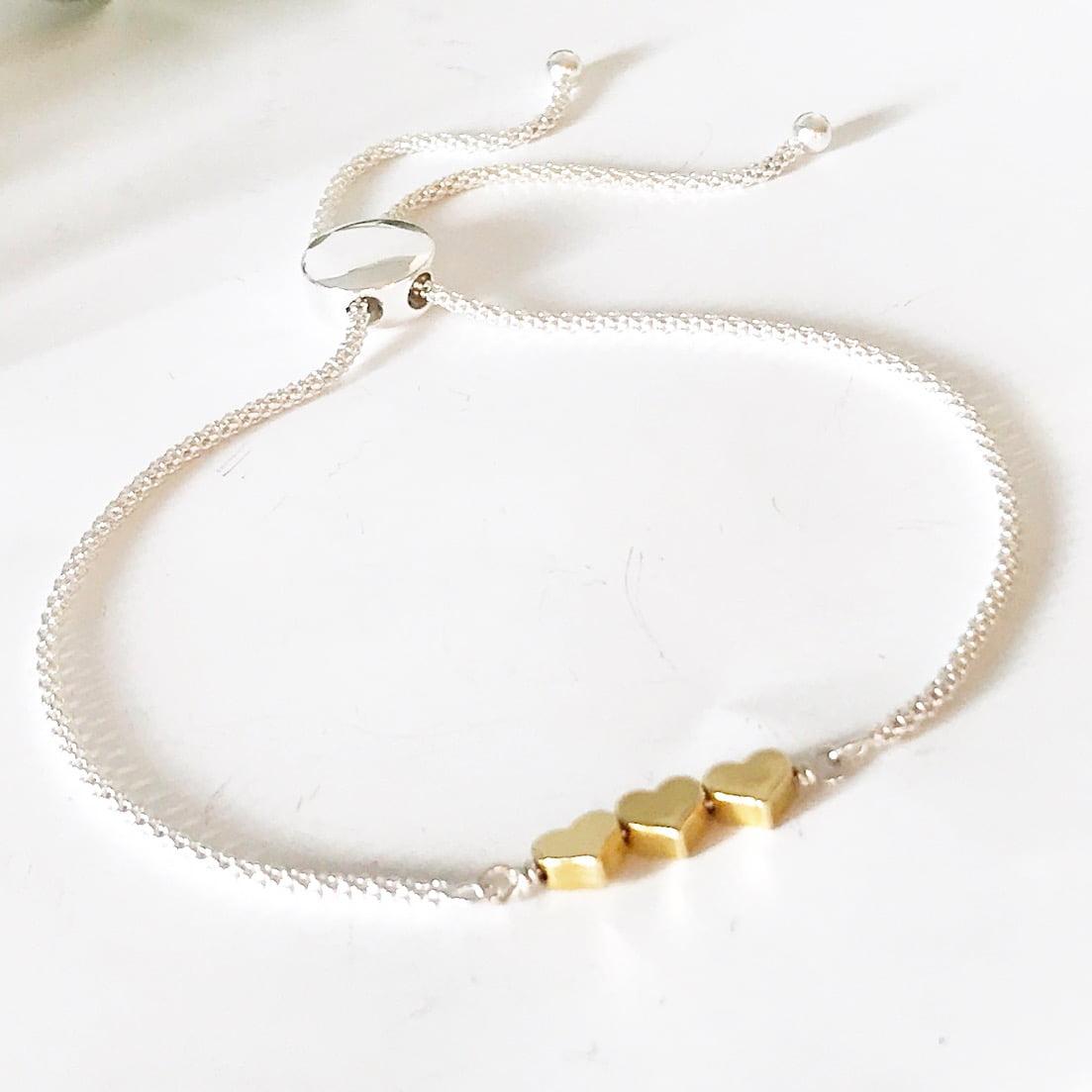Three heart bracelet   Me Me Jewellery