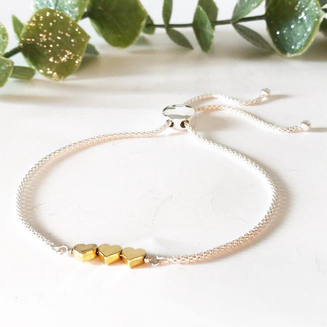 Gold Heart Bracelet | Me Me Jewellery