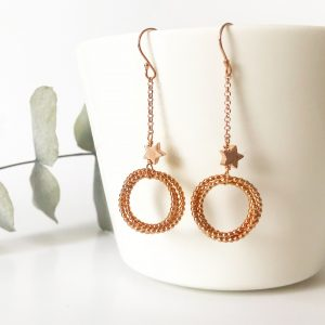 Rose Gold Eternity Earrings | Me Me Jewellery