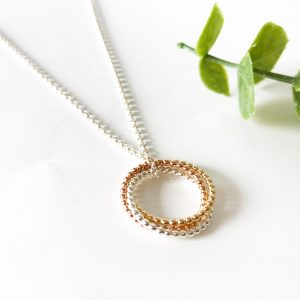 Mixed Metal Infinity Necklace | Me Me Jewellery
