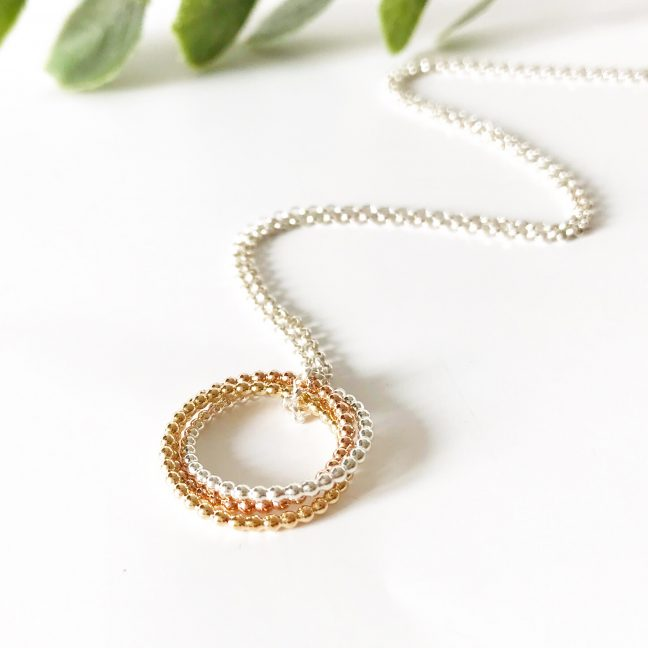 Infinity Necklace with Silver Chain | Me Me Jewellery