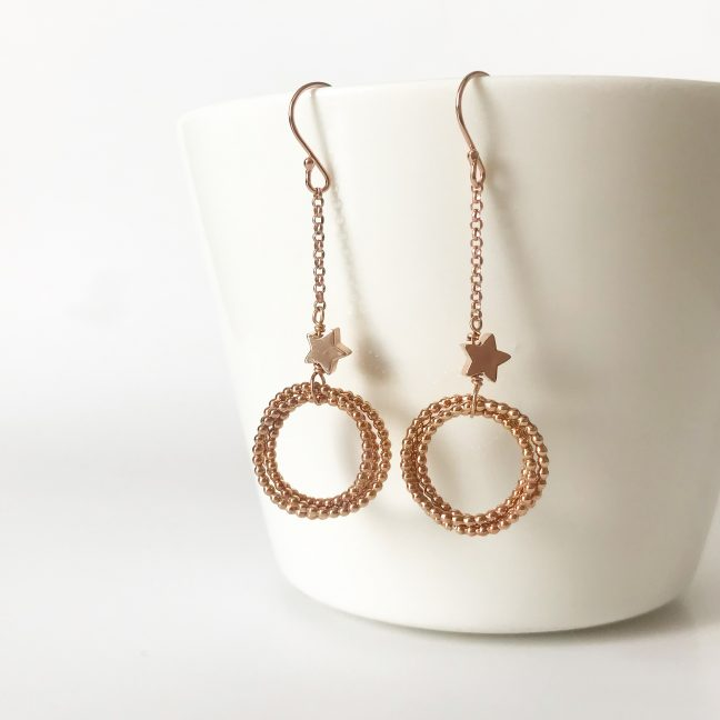 Rose Gold Infinity Earrings | Me Me Jewellery