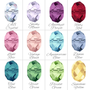Swarovski Crystal Colour Chart | Me Me Jewellery