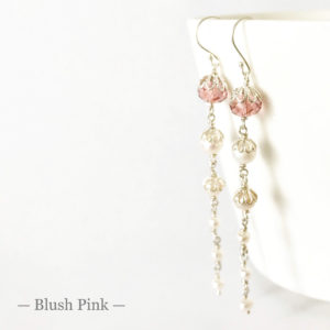 Blush Pink Bridal Earrings | Me Me Jewellery