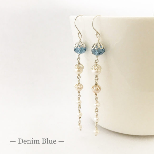 Blue Crystal Bridal Earrings | Me Me Jewellery
