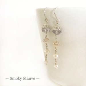 Mauve Crystal Earrings | Me Me Jewellery