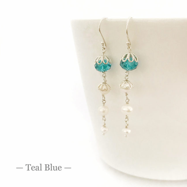 Teal Crystal Earrings | Me Me Jewellery