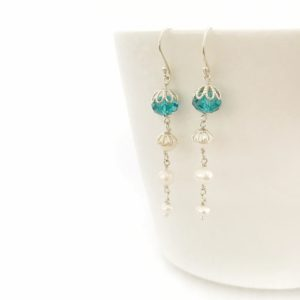 Swarovski Crystal Bridal Earrings | Me Me Jewellery