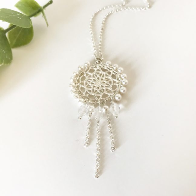 Silver Dream Catcher Necklace | Me Me Jewellery