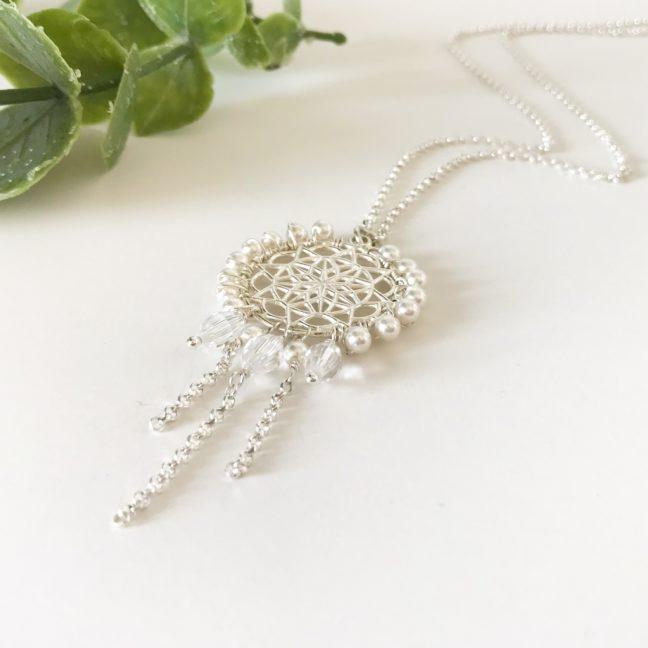 Dream Catcher Necklace with Swarovski Crystals | Me Me Jewellery