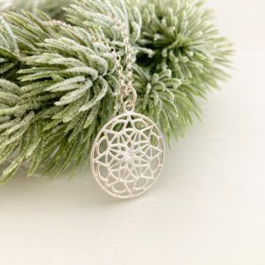 Intricate Silver Mandala Necklace | Me Me Jewellery