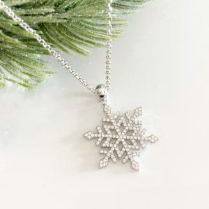 Silver Snowflake Necklace | Me Me Jewellery