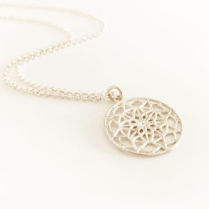 Silver Mandala Necklace | Me Me Jewellery