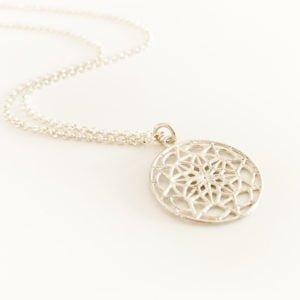 Silver Mandala Necklace | Me Me Jewellery