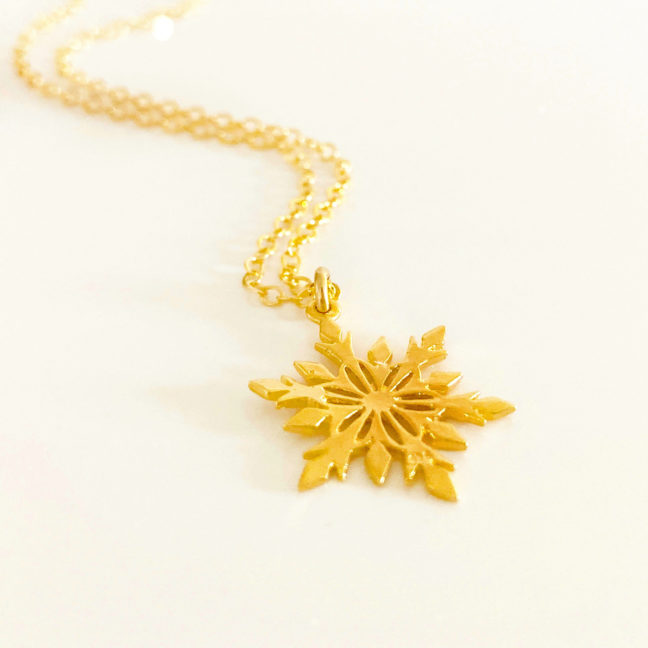 Gold Snowflake Necklace | Me Me Jewellery